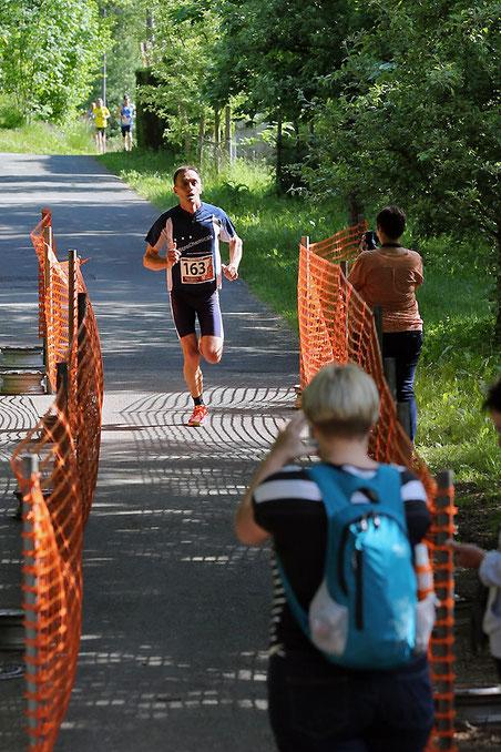 Christian Koch vom Team MicroChemicals, schnellster Herr über 10 km