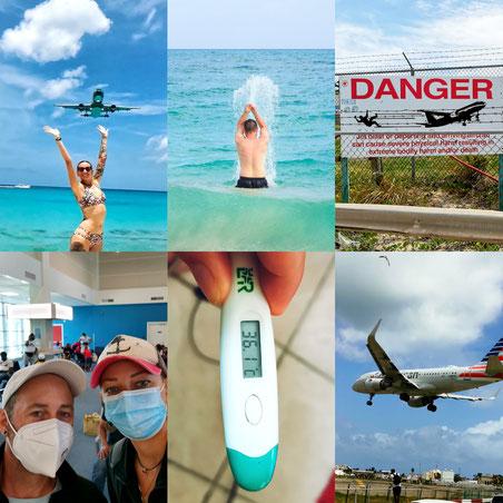 Weltreise, Corona, Pandemie, Maske tragen, Gefährlich, Rahmenbedigungen, Reisen, Curacao, St. Maartin, Fieber Messen, Preise, PCR-Test, Schnelltest, Organsisation