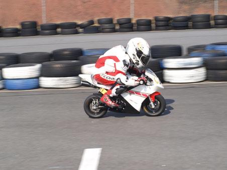 Marvin Siebdrath 2010 im Pocketbike Sachsen Event