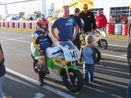 2013 wird Marvin Siebdrath Sieger im ADAC Pocketbike Cup