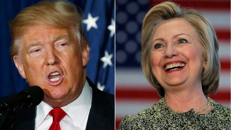 Donald Trump and Hilary Clinton
