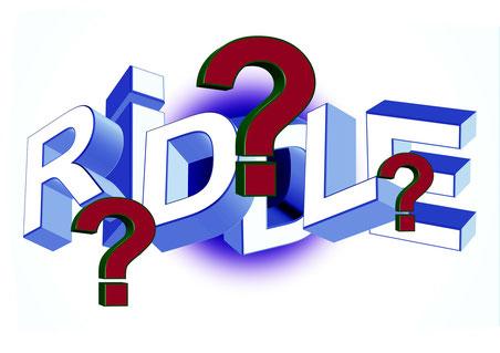 """""""Riddle"""" - Schriftzug"""