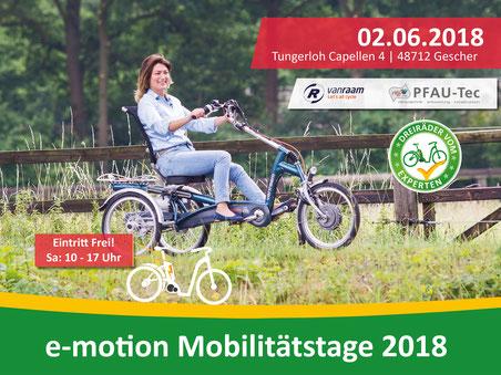 Dreirad und Elektro-Dreirad Mobilitätstage in Münster