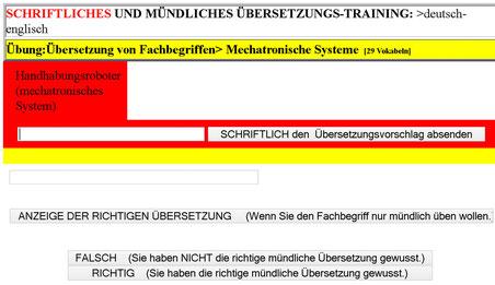 Mechatronik ausbildung erfolgreich uebersetzen lernen mit deutsch englisch karteikarten for Deutsch englisch translator