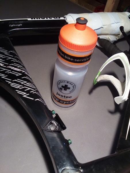 Scott Triathlon Carbonrahmen Anlötsockel Umwerfersockel lose wieder befestigen