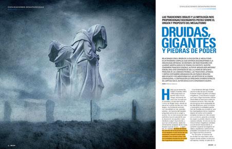 Reportaje-extracto del libro Arqueología Imposible en la revista Año Cero