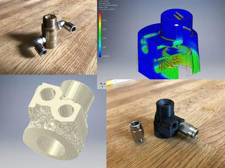 Topologieoptimierung von Bauteilen mit Autodesk Inventor und anschließender 3D Druck mit Durcktest bei B&M Maschinenbau GmbH in Hannover