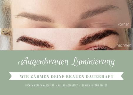 Browlifting, Browlamination, Katharina Ebner Haare und Mehr, Schierling