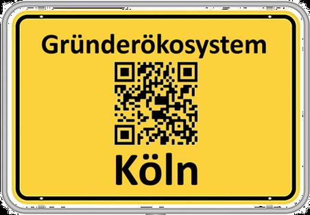 Ortsschild Gründerökosystem Köln