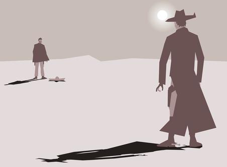 Duell zweier Cowboys