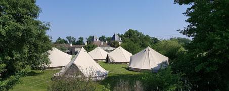 tipis en Fêtes s'installent au Château La Hitte à Lavardac pour un weekend de mariage