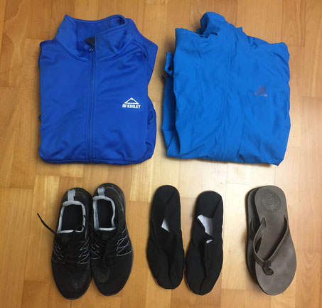 Kleider, Schuhe, packen, Packliste, Weltreise