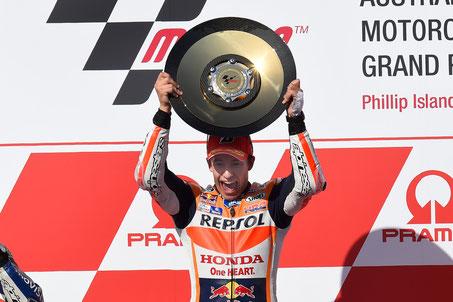 Marc Marquez beim MotoGP Rennen auf Phillip Island 2015