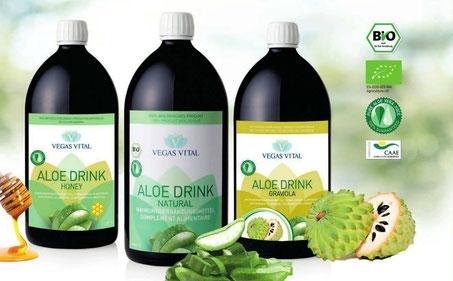 3 Sorten Aloe Drink von Vegas Vital