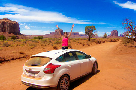 Un PopPacker nella Monument Valley