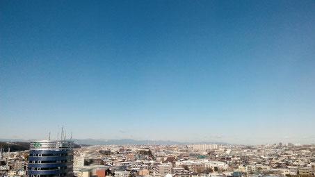 多摩区役所から撮影。空が綺麗でした!