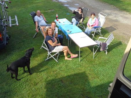 30.08.2015 - Stover Strand - Heinz & Heike, Peter & Claudia - aus dem Turm fotografiert