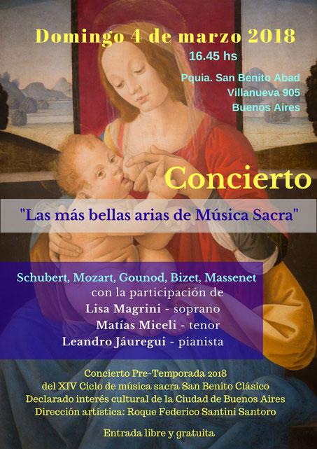 Concert d'airs sacrés - Mozart, Gounod, Schubert, Bizet, Massenet, Verdi - Lisa Magrini Soprano lyrique et Matias Miceli Ténor lyrique