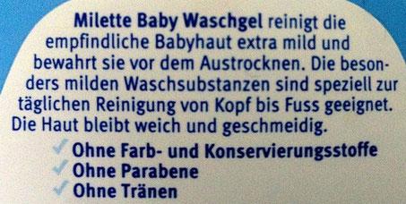 Milette Baby Waschgel