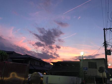 宝塚の夕方