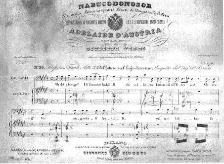 """Abb. 4 oben: Verdis Widmung für """"Nabucco"""""""