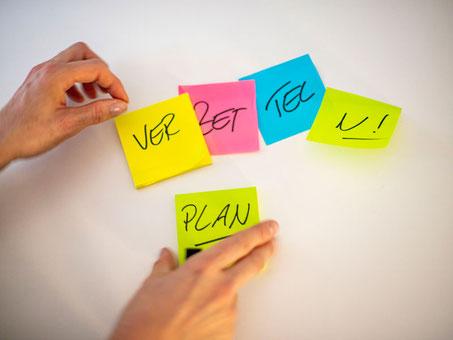 Plan und Struktur in beruflichen Prozessen