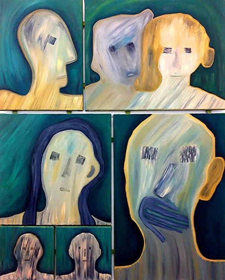 Gruppenbild 1: Öl auf Leinwand, 100 x 80 cm, 2017