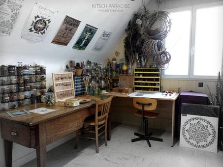 atelier espace création intimité porte ouverte kitsch-paradise