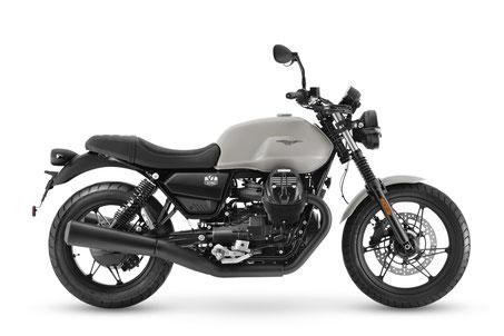 Moto Guzzi V7 Stone blau rechte Seitenansicht
