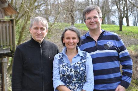 von links: Rolf Forster, Astrid Hahn, Andreas Hahn