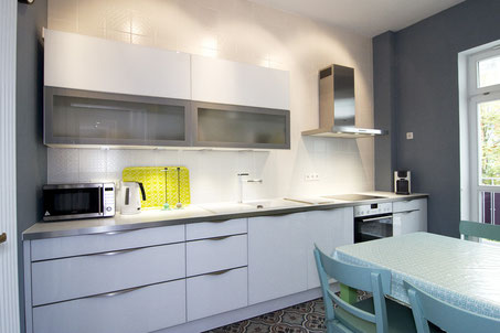 Ludwigshafen fully furnished apartment - kitchen