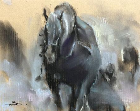馬 馬の絵 馬絵画 パステル画 パステル画教室