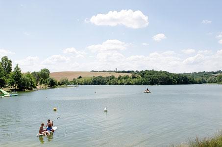 Lac de la Thésauque, Nailloux. Crédit photo : Couleur Média
