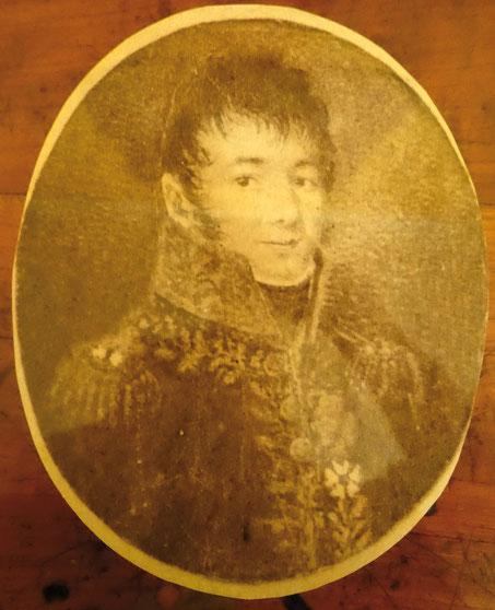 Général Louis-Joseph Cazals, Baron de l'Empire par lettres patentes du 28 décembre 1808. Portrait fourni par Henri de Cazals.