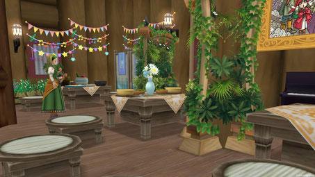 ちょっと区切られた空間では小さなパーティもできます