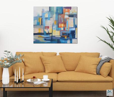 www.astrid-kroemer-malerei.de, Am Hafen, 100x80cm