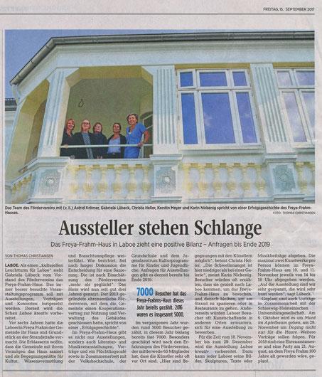 Kieler Nachrichten 15. September 2017