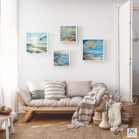 www.astrid-kroemer-malerei.de, kleine Acrylbilder auf Leinwand