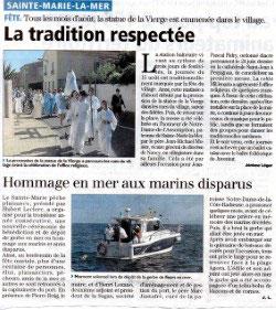 Le club de pêche en mer de Sainte Marie Pêche Plaisance SMPP 66470 est partenaire de l'association Ailerons et de la FNPPSF pour mener à bien le Projet Grand Large.