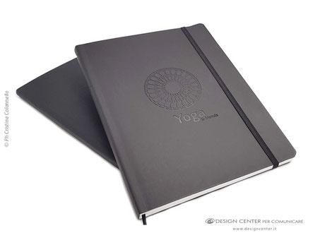 "NO_17 - Notebook con copertina morbida ""soft touch"" e logo tono su tono"