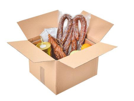 Keepcare Versandbox mit Lebensmitteln und ausreichend Kühlelementen
