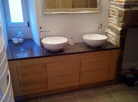 Meuble de salle de bain sur-mesure en Corrèze