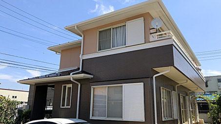 春日部市の戸建住宅、外壁塗装・屋根塗装工事完了の写真
