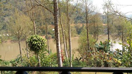 La vue depuis notre bungalow