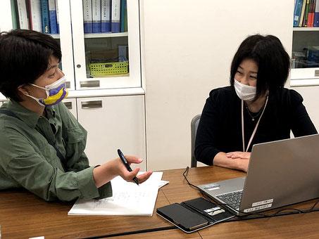 取材は6/19(土)PTA室で行われました。