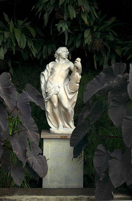 Photographie, Isola Madre, lac Majeur, îles borromées, jardins, statue, nature, végétation, été, vert, blanc, Mathieu Guillochon