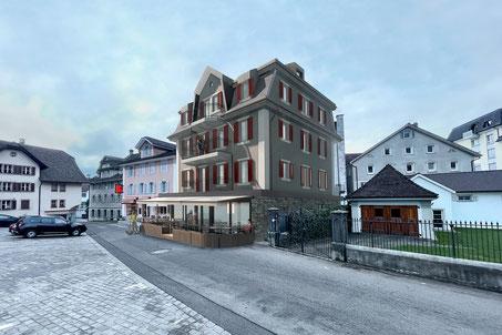 Starkl Vieli Architekten Restaurant Adler Gersau