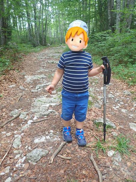 enfant en randonnée