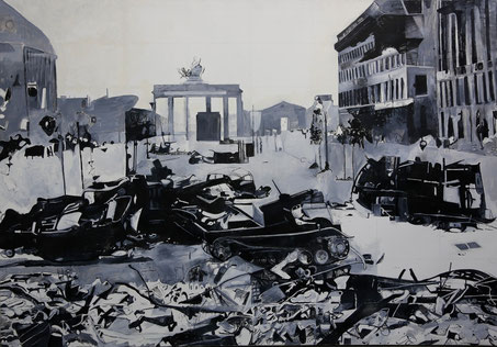 """Берлин 1945"", акрил / холст, масло, 200 х 295 см, 1994"