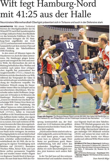 6. Spieltag, Holsteinischer Courier